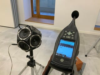 Some of the tools used to assess noise levels and Sound Transmission Class (STC) ratings of assemblies